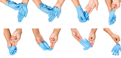 Which disposable glove should I choose to avoid getting dirty or contaminated?