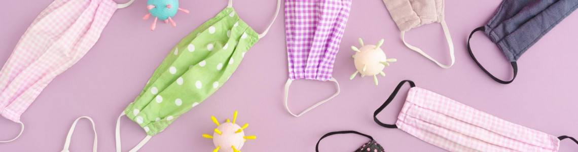 Washable 3-fold fabric masks