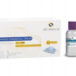 Pack masques chirurgicaux et gel hydroalcoolique
