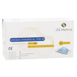 Pack : 50 masques chirurgicaux adulte + 1 gel hydroalcoolique 100ml
