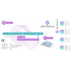1 Boite de 50 masques chirurgicaux pédiatriques XS pour enfant de marque JSE Medical