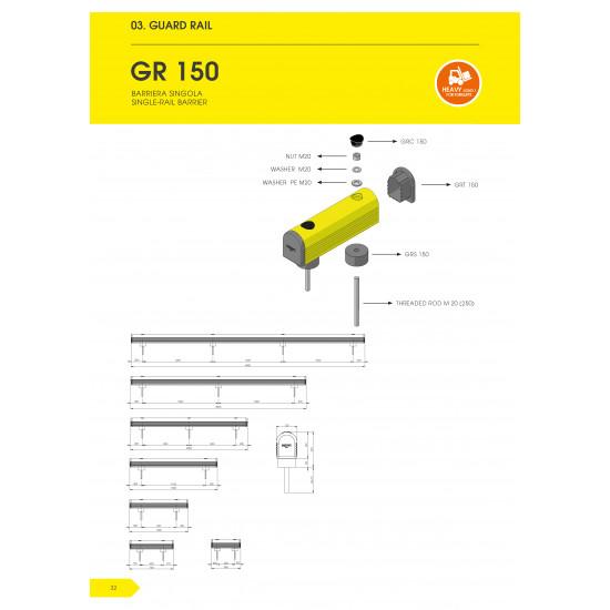 Protection au Sol - Guard Rail 150 - 1500 mm