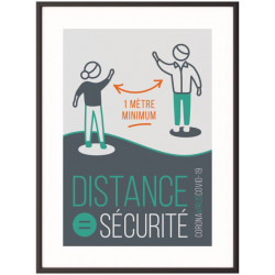 "Cadre + affiche ""Gardez vos distances"""